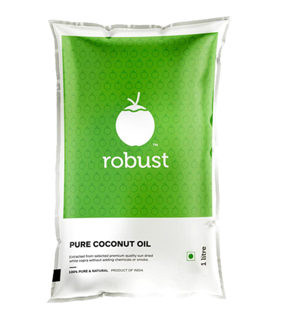 Robust- 100% Pure Coconut Oil Pouch - 1L